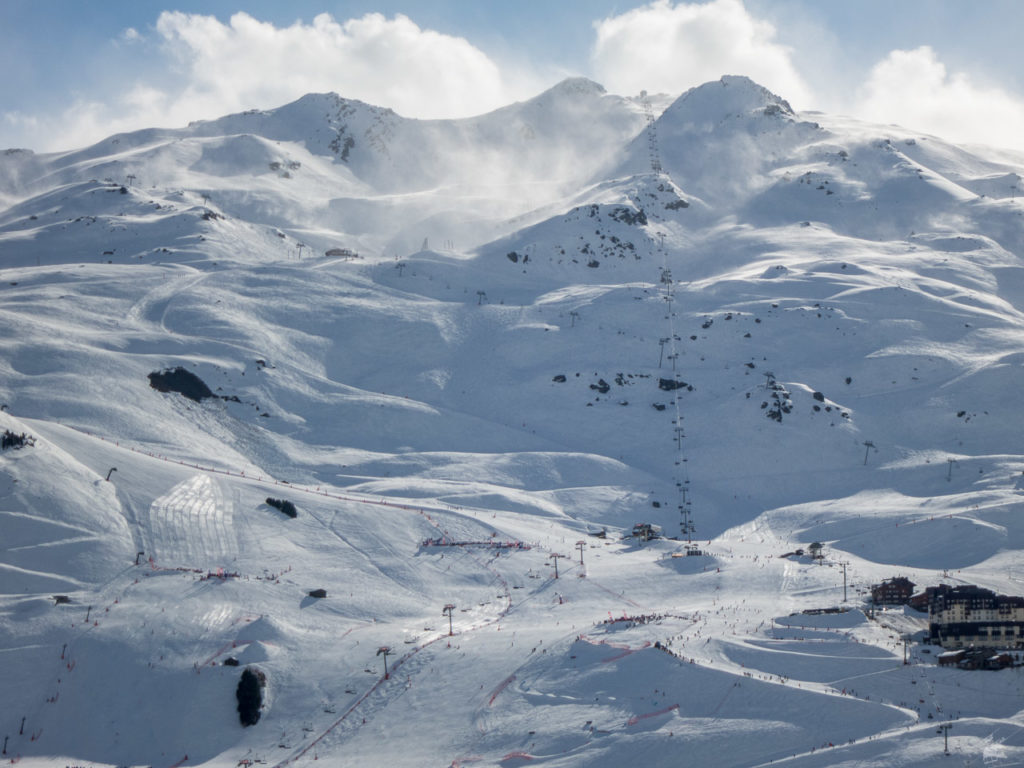Sturm, gesehen aus dem Sunny Express. Mont de la Chambre wird gerade leer gefahren.