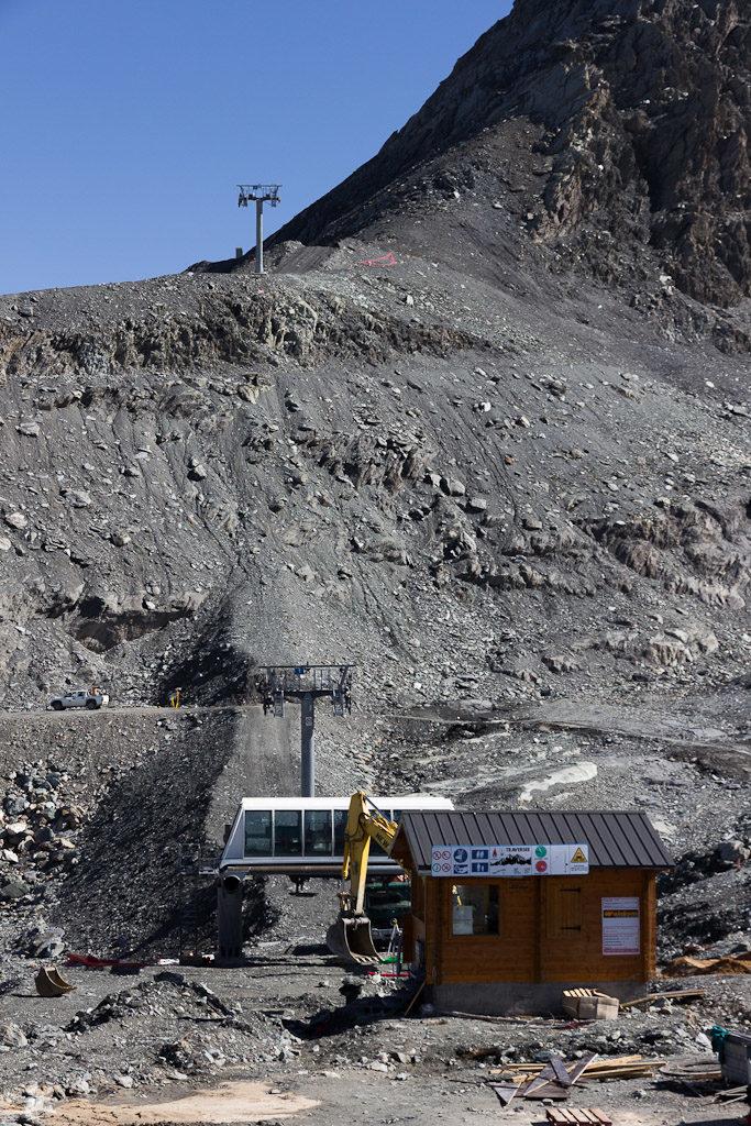 Blick auf die neue Trasse, die identisch ist mit der alten. Auch der Bergstationsstandort bleibt der selbe.
