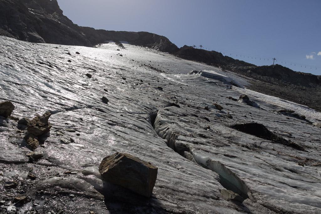 La Plagne – was vom Gletscher übrig blieb