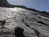 Am Gletscher selbst. Pures Eis, eine Firnauflage sucht man Ende August vergeblich.